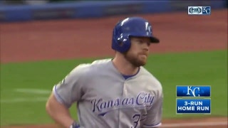 WATCH: Brandon Moss hits a three-run jack in Royals' win over Indians