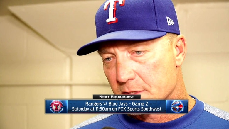 Jeff Banister talks early exit for Griffin in 7-6 loss to Blue Jays