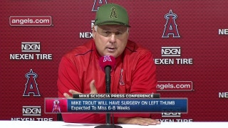 Scioscia on Trout's injury: 'We have to be more than one guy'