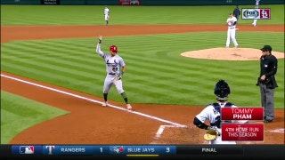 WATCH: Pham homers, makes a sliding catch in Cards' win over Rockies