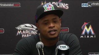 Marlins' Volquez retires 13 straight to start the game