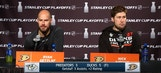 Getzlaf, Ritchie talk after the Ducks even the series