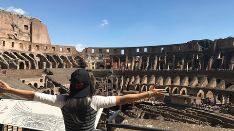 Bayley in Rome, Italy