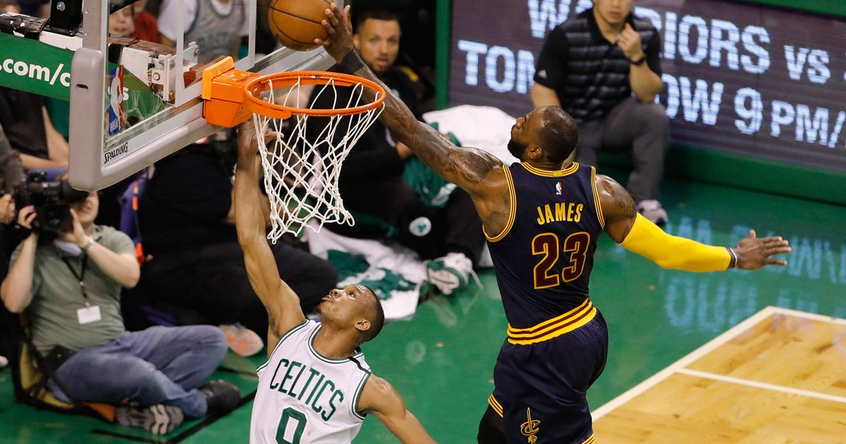 LeBron James continues dominance of Boston Celtics with chase-down block