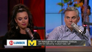 Jim Harbaugh delivered a calf - Joy and Colin react | THE HERD