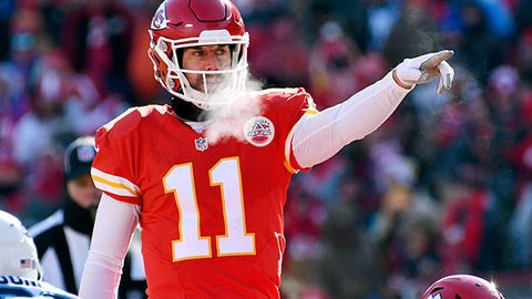 KANSAS CITY, MO - DECEMBER 18:  Quarterback Alex Smith #11 of the Kansas City Chiefs in action during the game against the Tennessee Titans at Arrowhead Stadium on December 18, 2016 in Kansas City, Missouri.  (Photo by Reed Hoffmann/Getty Images)