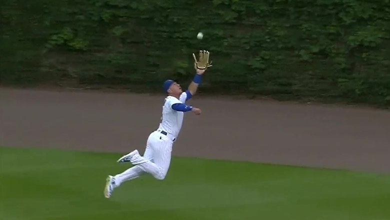 WATCH: Albert Almora Jr. robs Brandon Belt with amazing diving catch