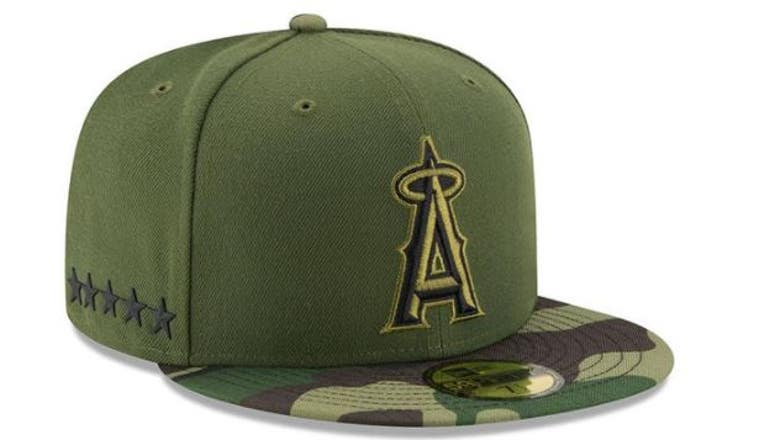 Angels, MLB honor military with special Memorial Day hats, jerseys
