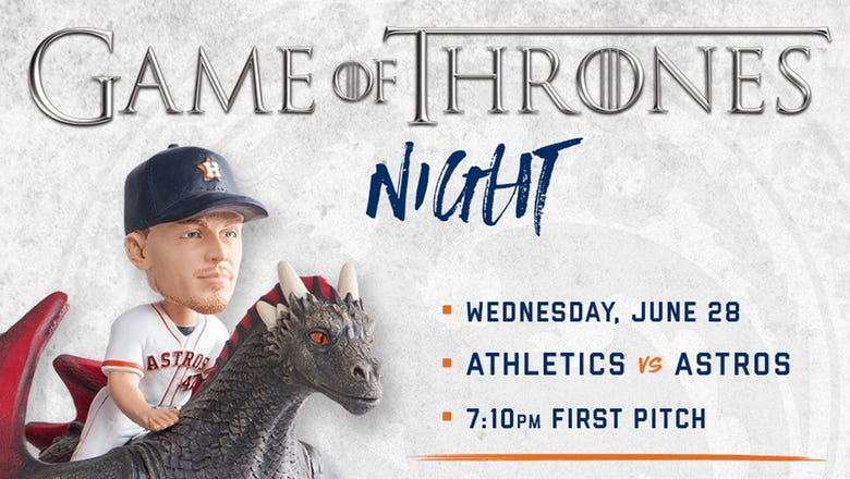 "The Astros have unveiled an excellent /""Game of Thrones/"" bobblehead"