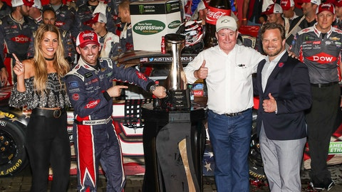 Austin Dillon: Austin Dillon win Coke 600 on fumes
