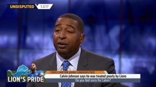 Cris Carter isn't surprised by the way the Lions are treating Calvin Johnson | UNDISPUTED