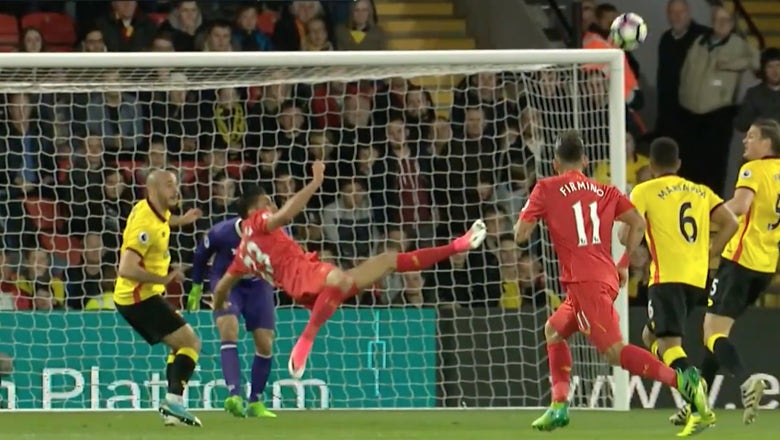 Watch Emre Can's outrageous goal of the season contender for Liverpool