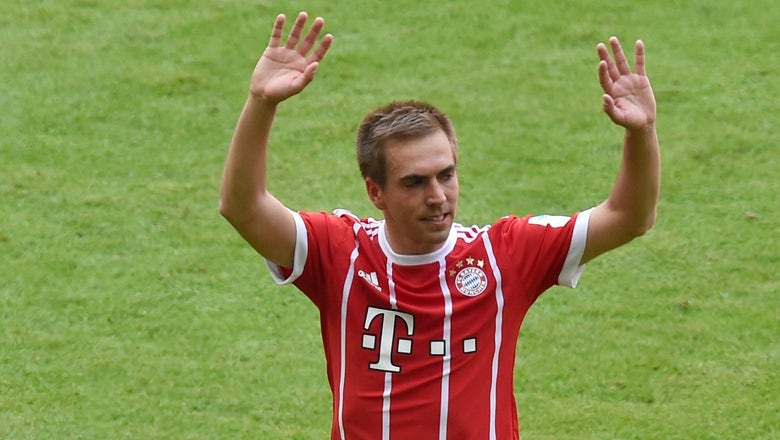 Watch Philipp Lahm and Xabi Alonso walk off the field for the last time and into retirement