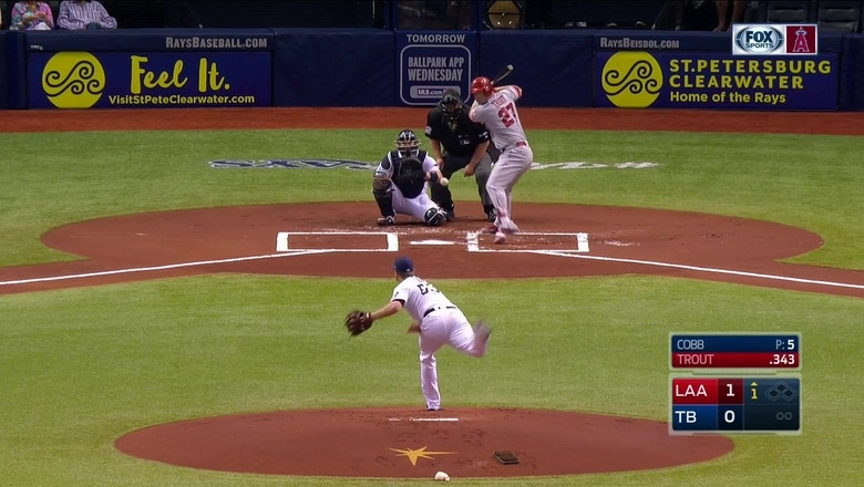 HIGHLIGHTS: Maybin, Trout hit back-to-back homers in win over Rays
