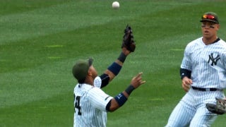 Judge makes circus catch after Castro bobble