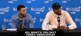 "Curry, Durant joke about ""Gobert kerfuffle"" after Game 3 win"