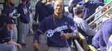 WATCH: Keon Broxton does his best Eric Thames impression