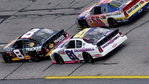 On Earnhardt pushing him to victory