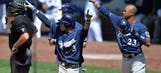 Sogard's big day leads Brewers over Padres