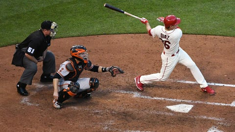 Arroyo's double lifts Giants to 3-0 win over Cardinals in 13