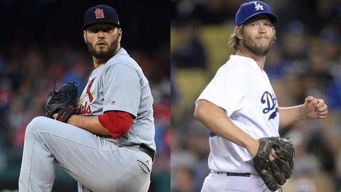 Cardinals right-hander Lance Lynn and Dodgers left-hander Clayton Kershaw
