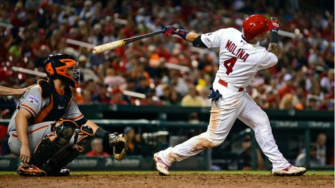 Randal Grichuk: Grichuk drives in four, Cardinals beat Giants