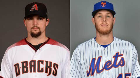 Today's starting pitchers RHP Zack Godley vs. RHP Zack Wheeler