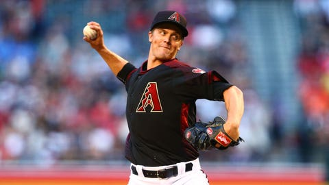 D-backs starting pitcher Zack Greinke (3-2, 3.09 ERA)