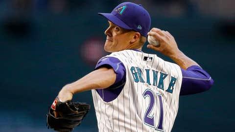D-backs starting pitcher Zack Greinke (4-2, 2.79 ERA)