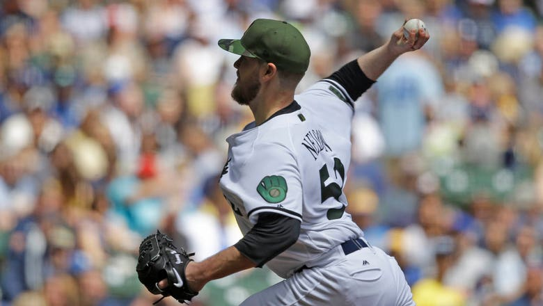 Nelson strikes out 10 in Brewers' win over Diamondbacks