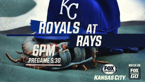 Royals get crushed by Rays in Tampa Bay