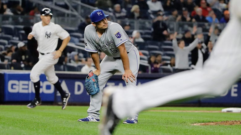 Royals tagged by three homers, Yankees win 4-2