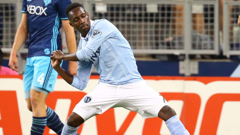 Sporting KC's Gerso Fernandes records a hat trick against Seattle Sounders