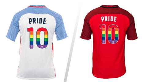 USMNT and USWNT players will wear rainbow jerseys for gay pride month