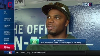 Rajai Davis reflects on Game 7 home run, former Indians teammates