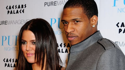 """LAS VEGAS - DECEMBER 31:  Khloe Kardashian and Rashad McCants arrives at """"PUREfection"""" New Years Eve Party, an evening at PURE Nightclub inside Caesars Palace Hotel and Casino, on December 31, 2008 in Las Vegas, Nevada.  (Photo by Bruce Gifford/FilmMagic)"""