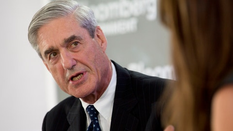 """Robert Mueller, former director of the Federal Bureau of Investigation (FBI), speaks during a Bloomberg Government cybersecurity conference in Washington, D.C., U.S., on Tuesday, June 3, 2014. The conference was titled """"Cybersecurity: Getting to Business."""" Photographer: Andrew Harrer/Bloomberg via Getty Images"""