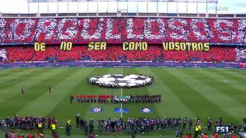 Real Madrid's tifo last week seems to have struck a chord
