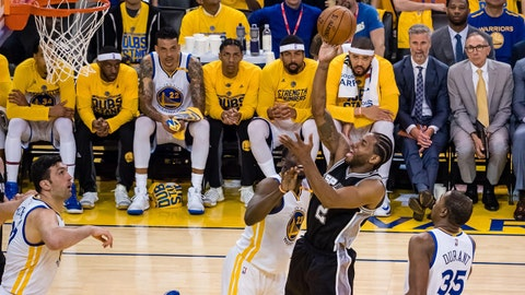 Kawhi Leonard not blaming injury on Warriors' Pachulia