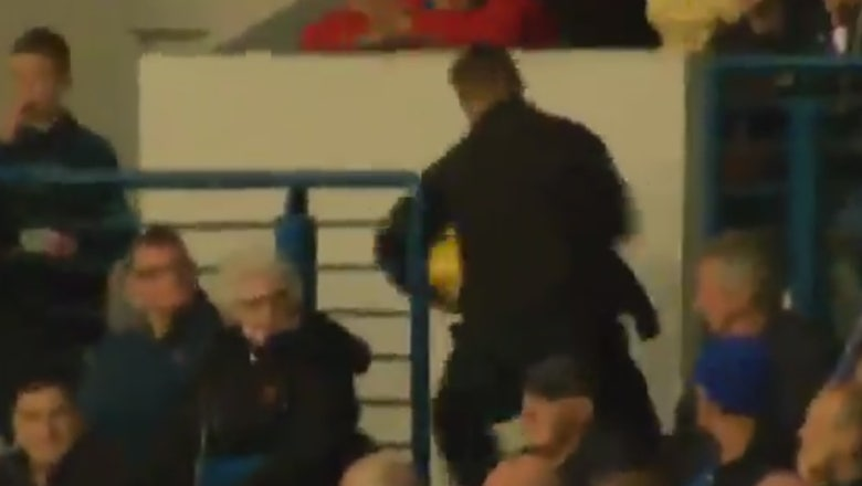 Watch a fan steal a match ball and sprint out of the stadium during a Scottish Premiership game