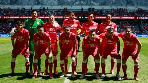 Toluca (26 points, +1 goal differential)