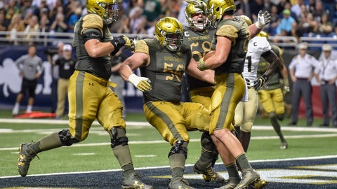 Mike McGlinchey, OT, and Quinton Nelson, OG, Notre Dame