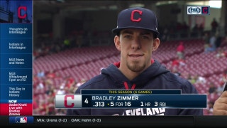 After his first week in the Majors, Bradley Zimmer is 'just drinking it all in'