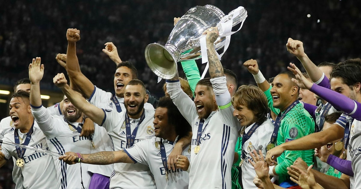 Watch Real Madrid lift the Champions League trophy for the ...