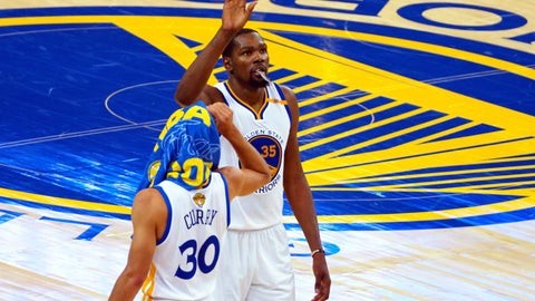 Durant shines as Warriors win title