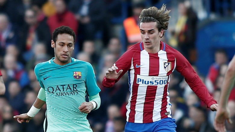 Neymar can't help but laugh at Antoine Griezmann's questionable new hairstyle choice