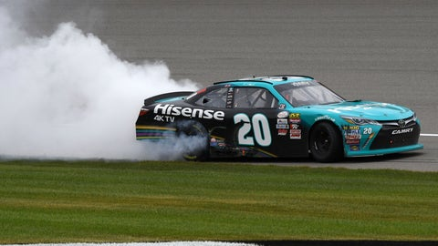 No. 20 XFINITY Series win at MI encumbered by illegal splitter