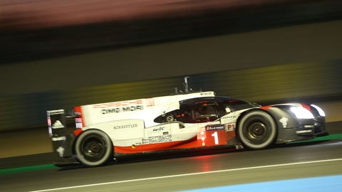 The No. 1 Porsche lost oil pressure with less than four hours to go at the 24 Hours of Le Mans. (Photo: LAT Images)