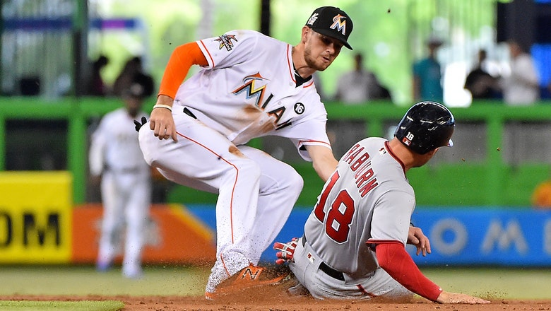 Marlins score 2 unearned in the 8th to topple Max Scherzer, Nationals
