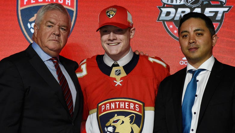 Panthers select right wing Owen Tippett with 10th overall pick